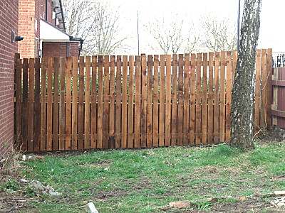 finished fence - very handsome too! all i want now is the rest done!