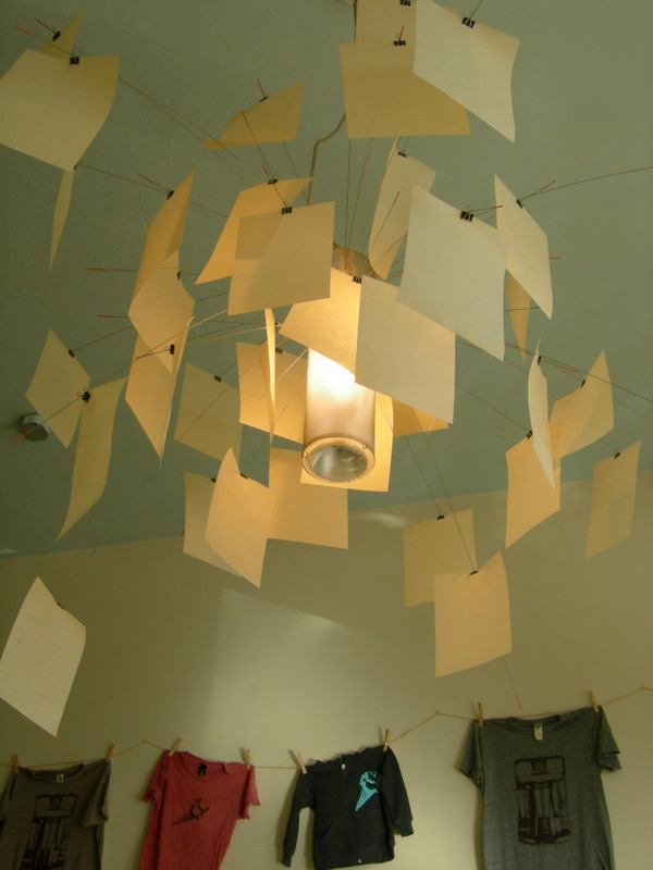 Light sculpture at Molly Moon's