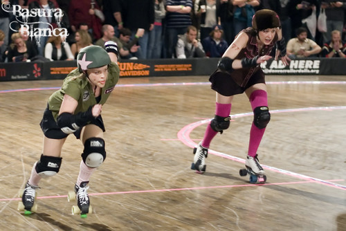 The Denver Roller Dolls – Season Opener: Shotgun Betties vs. Green Barrettes and The Bad Apples vs. Fort Collin Chanel Cartel - 03/28/09