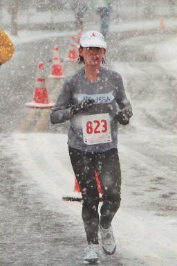 Melissa near half of Frederick Marathon