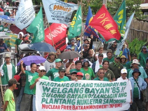 The members of NFBM marched from Mariveles, Morong and Balanga