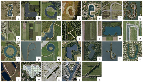 Google Earth alphabet - The Netherlands - lower case by Thomas de Bruin.
