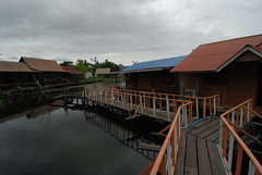 The walkway leading up to our hotel room at the River Guesthouse