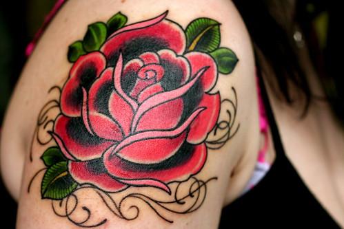 My Rose Tattoo - All bruised!
