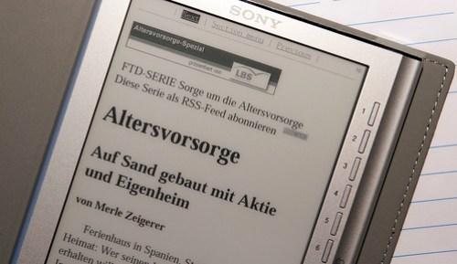 Die Financial Times Deutschland am Reader