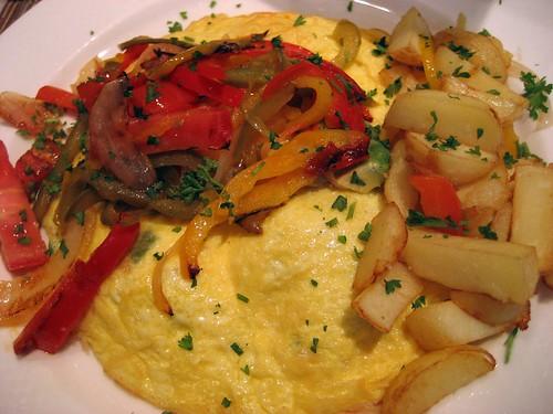 My breakfast, open omelette with avocado, 5/9/2009