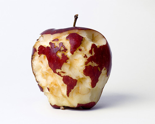 Apple-globe by Kevin Van Aelst