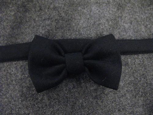 gray wool dress - bow