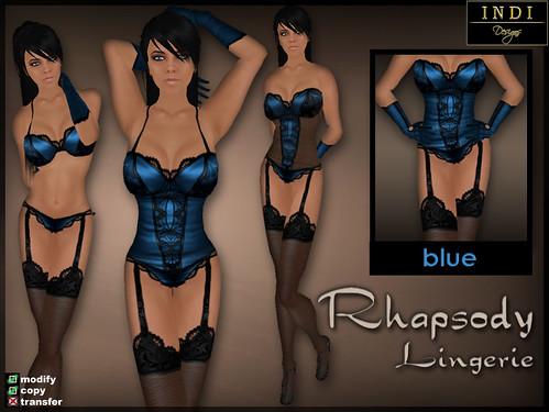 """Lingerie """"Rhapsody"""" blue"""