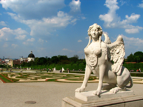 View over the garden of Belvedere by you.