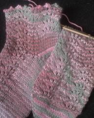 Keely's Pink Camo Socks