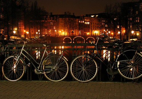 Bikes and canal by you.