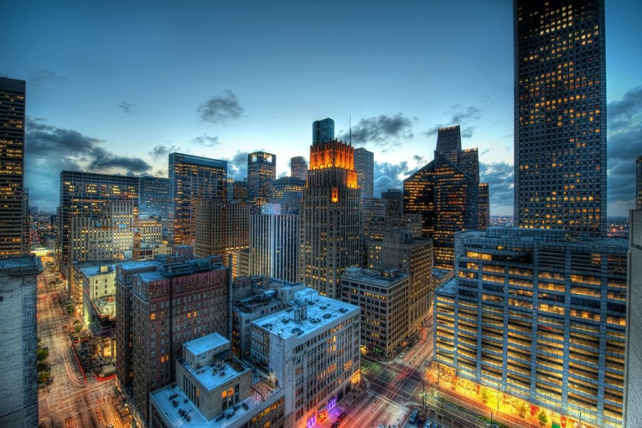 Houston at Dusk (by Stuck in Customs)