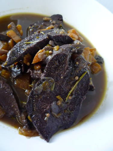 Ox Tongue braised in red wine