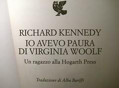 Richard Kennedy, Io avevo paura di Virginia Woolf, Guanda 2009, frontespizio (part.)