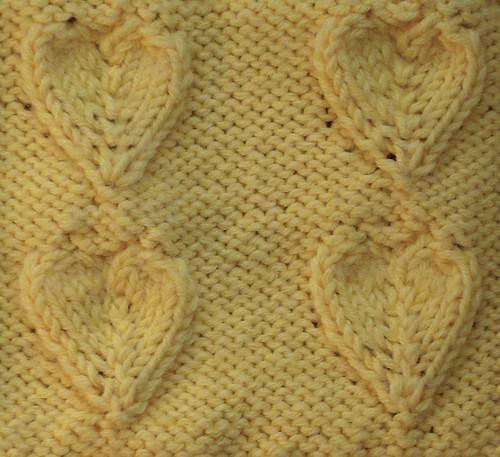 Embossed heart