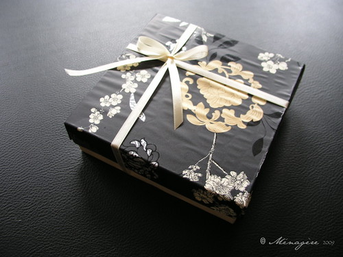 Black Floral Gift Box