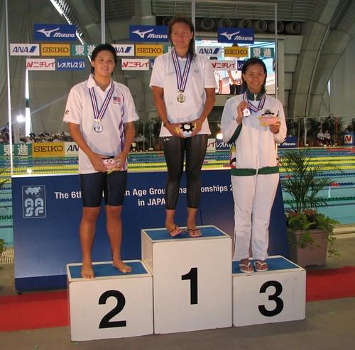 813馮敏慧在女A100仰以1分07秒35獲銅牌