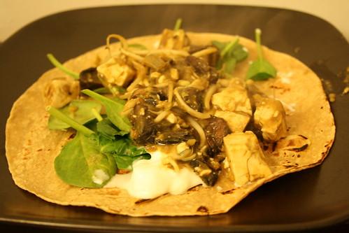 Lentil, Portabella, and Tofu Wrap