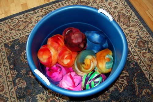 Bucket of fiber