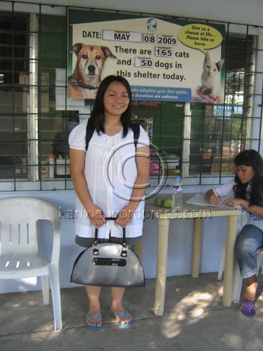 My usual haggard-looking self. Not much an animal lover but I am a believer that animals have rights, too.