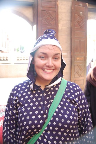 Me in a mosque in Islamic Cairo