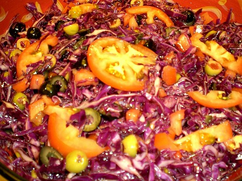 Red Cabbage& Olives Salad