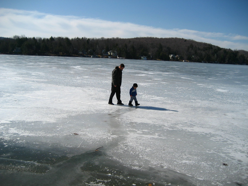 Taking a stroll on the Lake