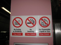 Singapore fines are posted all over the city