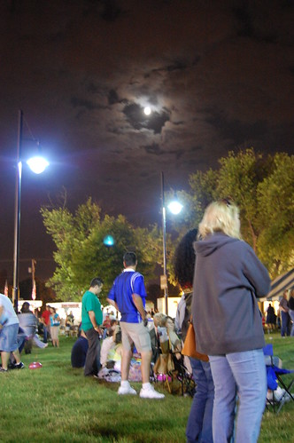 Folks watching the band.  It was a lovely evening!