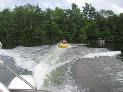 Tubing on Lake Garfield