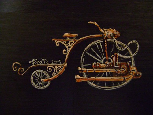 steampunk cycle sideboard detail