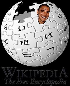 Barack taking a peak outisde of WikiWorld