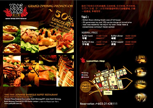 Yaki Yaki Japanese Barbeque Buffet Restaurant Promotion