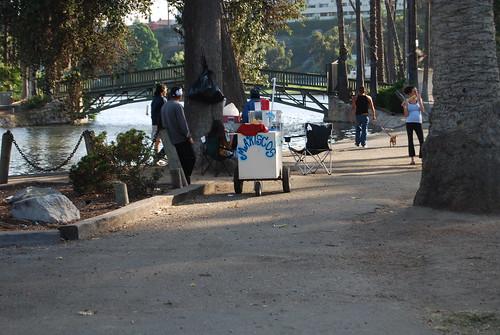 Mariscos Estilo DF Seafood Cart - Echo Park Lake by you.