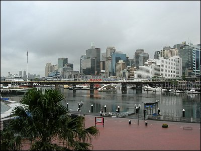 Darling Harbour on a dreary April morning.