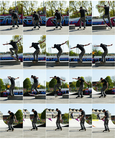 F/s tailslide, b/s 270 shove-it out at the new Glastonbury skatepark.