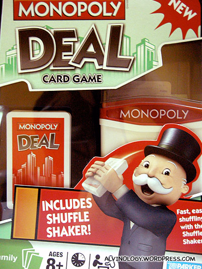 The box of the Monopoly Deal Card game