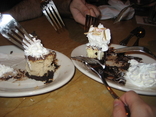 What was left of the cheesecakes we had. (forgot to take pictures before we ate)