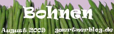 Garten-Koch-Event August 2009: Bohnen [Einsendeschluß: 31.08.2009]