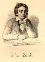 Illustrated portrait of John Keats