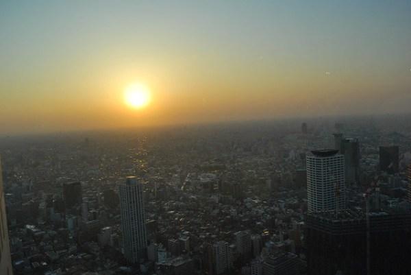 Puesta de sol en Shinjuku