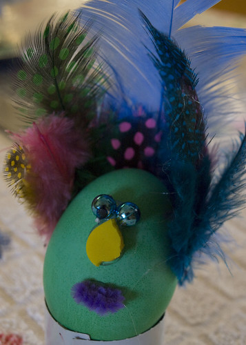 A newcomer, my cousin Jesses girlfriend Selena, made this peacock - way to jump right in, Selena!