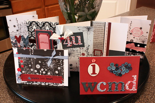 The Paper Crafts team made these cards on World Card Making Day, 2008.