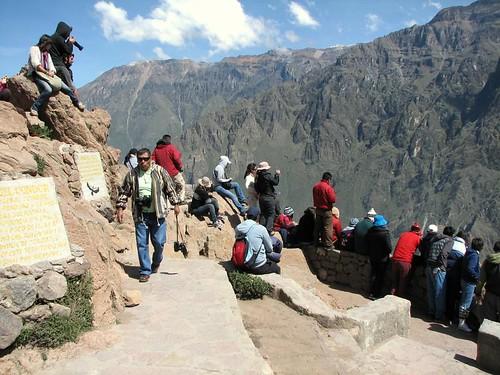 Los turistas y los cóndores