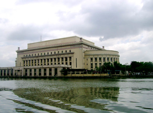 The rear of the historic Manila Central Post Office Building