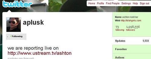 Ashton Kutcher and Twitter