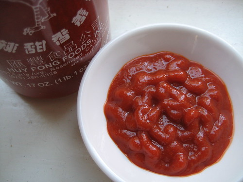 Sriracha from the bottle