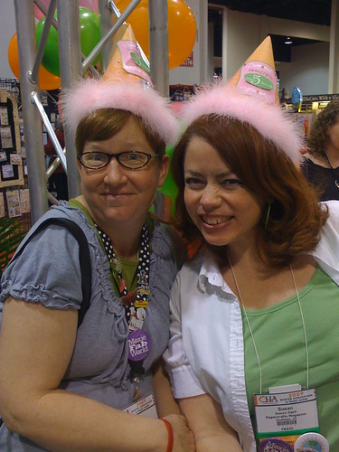 As this picture from Winter CHA suggests, Kim and I know how to party!