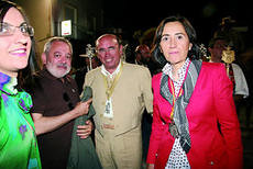 Andres Ocaña y Rosa Aguilar en la Quemá.